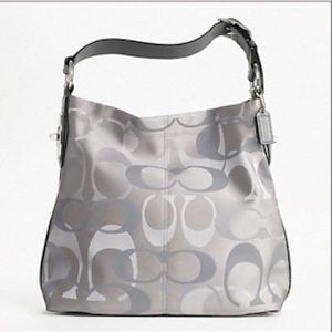 Coach Penelope Optic Hobo 7476 Turn-lock Grey Bag